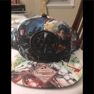 DC JLA Superheroes Men's SnapBack Cap New